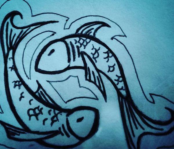Drawing Art ArtWork Pisces Instaart Aquarius Fish Koi Koifish Penandpaper Fishscales  Ocean Lake Pond PlentOfFish