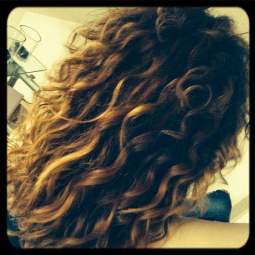 Meine Haare nach dem Duschen
