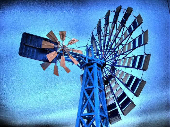Alternative Energy Blue Close-up Day Fuel And Power Generation Low Angle View Renewable Energy Sky Traditional Windmill Wind Power Wind Turbine Windmill