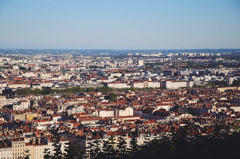 Lyon skyline France Skyline Lyon Architecture Cityscape Building Exterior Built Structure High Angle View City Day
