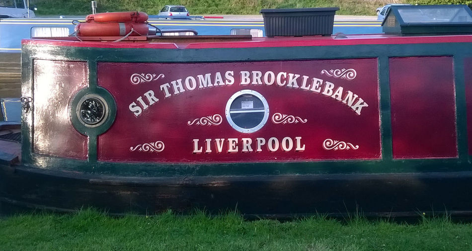 British Waterways Canal Canal Art Canal Barge Canal Life Canal Side Canals Folk Art  Life On Canals Liverpool Mooring Narrow Boat Narrow Boats Sign Writing Sir Thomas Brocklebank Trent And Mersey Canal