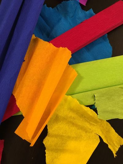 Crepe paper Tinker Backgrounds Close-up Crepe Crepe Paper Handicrafts Multi Colored Texture