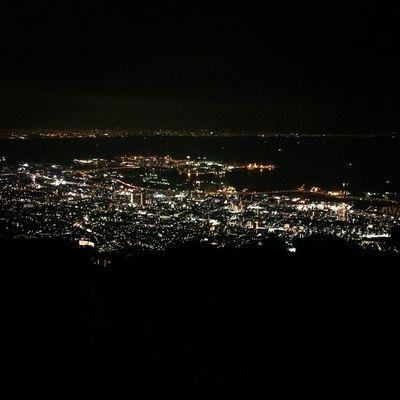 Kobe Soaking Up The Sun Night Lights Enjoying The View