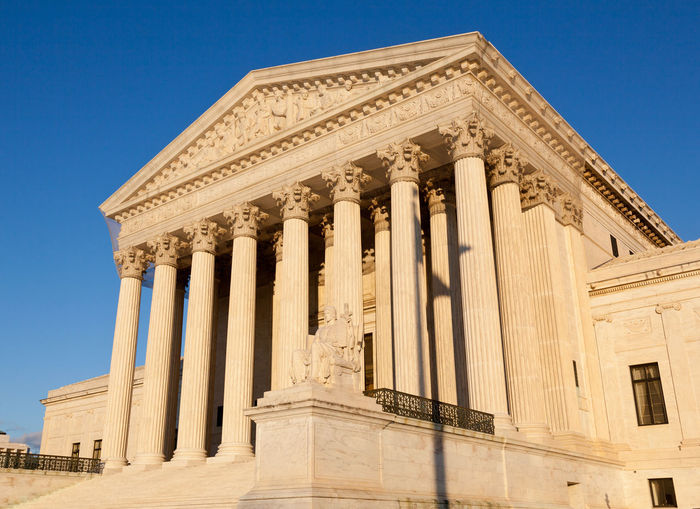 United States Supreme Court building in Washington DC in the USA American Court Entrance Government Supreme Court Building Supreme Court USA United States Washington Washington DC Washington, D. C. America Columns Constitution Courthouse Justice Law Supreme