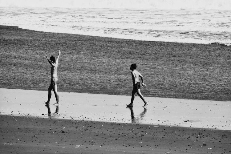 Bali Life Is A Beach Two Waves Oceanside Boys Black And White Waves, Ocean, Nature Child Ocean View Photography Ocean