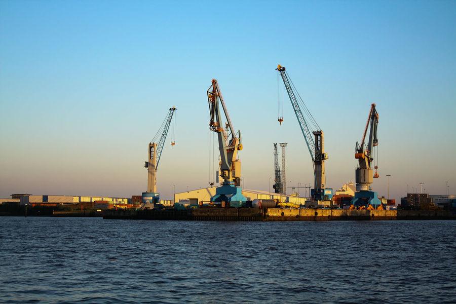 Hamburg, am Hafen