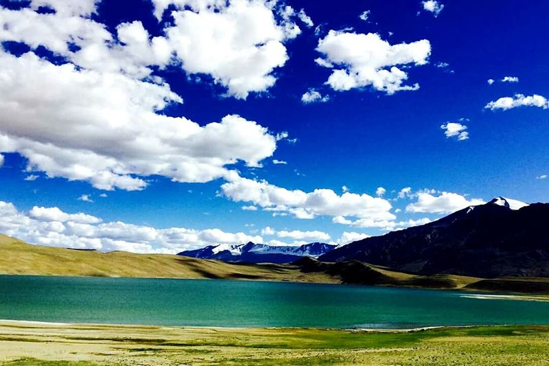 Our unplanned picnic spot on the way to Tsomoriri lake. Landscape Blue Cloudscape Beauty In Nature No People Cloud - Sky
