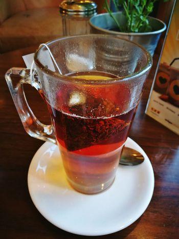Morning tea at Crepe Affaire Breakfast Sunshine Morning Light Tea Tea - Hot Drink Earl Grey Tea Energy Wake Up Foodpics Foodlover Food And Drink Color Warm Colors Warm Light Vintage Happy Time Happiness Friendship