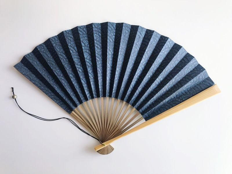 Relief In Summer Summertime Folding Fan Fan Japan Japanese Style Japanese Culture 扇子 Sensū EyeEm Selects Pattern No People Still Life White Background Studio Shot Close-up Personal Accessory