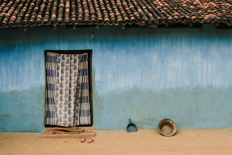 Jharkhand, India Village India Jharkhand Nature Landscape People Colors Silent Moment Silent Pure Life Pure Beauty Built Structure Architecture Building House No People Blue Outdoors Wall Day Door Entrance
