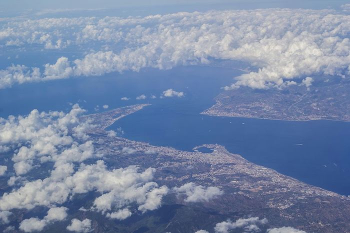 Messina strict Italy Messina Sky Clouds Earth Sea Strict Plane