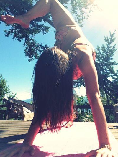 Yoga hair!