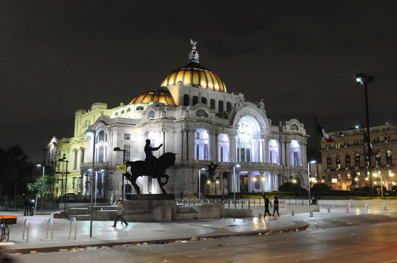 Architecture Night Illuminated Dome City City Life Capital Cities  Walking Around Hello World Hanging Out Bellas Artes,México City