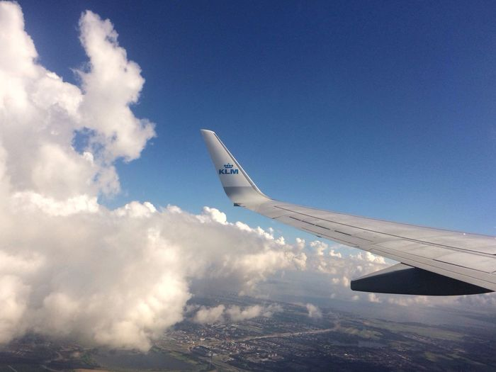 The Journey Is The Destination On The Way KLM Sky And Clouds Sky Holiday Traveling Traveling Photography Give Me Wings Fly Away Urlaub