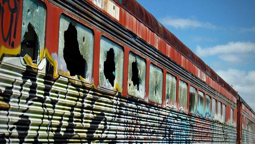 Abandoned train cars Train Train - Vehicle Trainphotography Train_nerds Trainporn Trainspotting Train Graffiti  Abandoned Abondened Places