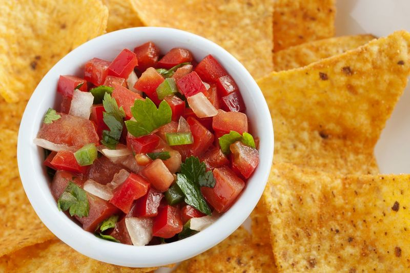 Pico de gallo salsa with nachos. Close-up. Pico De Gallo Mexican Food Salsa Texmex Red Bell Pepper Tomato Cilantro Parsley Onion Colorful Texmex Food UnykaProductions Studio Photography Healthy Eating Appetizer DIP Seasoning Vegetables Natural Light Chopped Close-up No People Nachos Bowl Porcelain  Food Stories