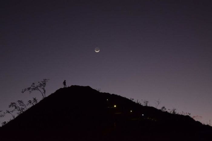 Perspectives On Nature Earthshine. Moon Silhouette Astronomy Beauty In Nature NIKON D5300 Travel Destinations Osmeña Peak CebuPH CebuPhilippines EyeEmPhotography Night Landscape
