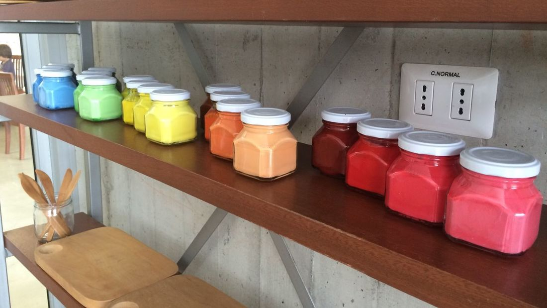 Multi Colored Jar Bottle Container Paint Pintura Color