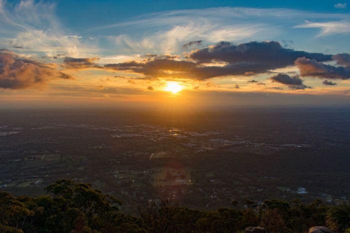 Stunning Melbourne Sunset Beautiful MelbournePhotographer EyeEm Best Shots EyeEmNewHere Sky Sunset Scenics - Nature Cloud - Sky Sun Beauty In Nature Environment Cloudscape Lens Flare City