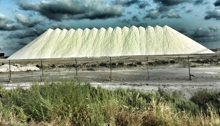 Day Sky Grass Outdoors Tranquility Nature No People Landscape Beauty In Nature Architecture Salt Salt Mountain