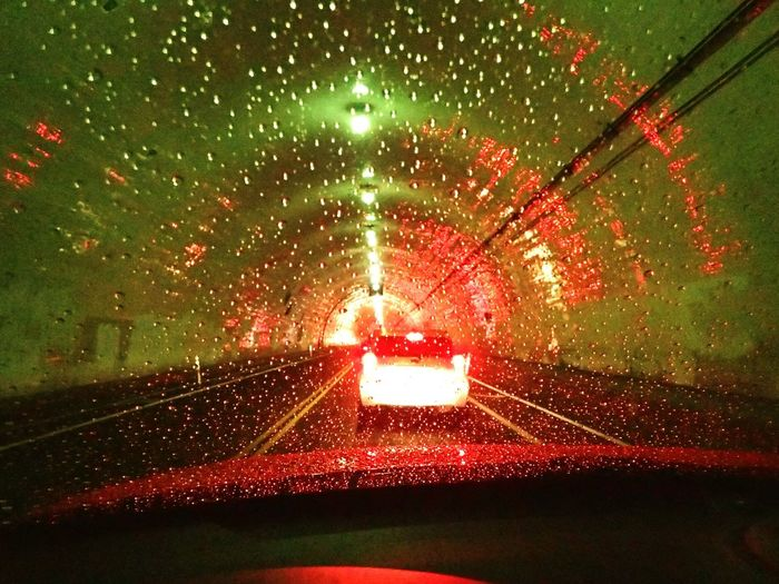 Traveling Home For The Holidays Car Rain Wet Transportation Night Illuminated Red Window Rainy Season Drop Windshield 2nd St. Tunnel LA Journey Land Vehicle Weather Water Mode Of Transport Torrential Rain Vehicle Interior Travel Car Interior No People
