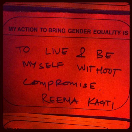 Message! OneBillionRising Reemakagti Bandra Event women equality