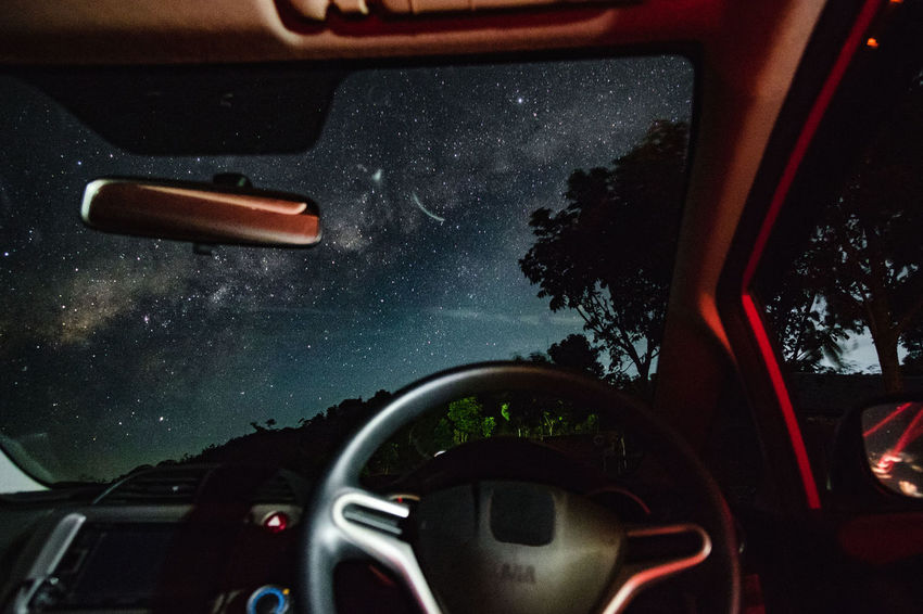 Driving at nigthtime Car Interior Car Point Of View Dashboard Driving Journey Land Vehicle Night No People Road Sky Steering Wheel Transportation Vehicle Interior Windscreen Lost In The Landscape Perspectives On Nature EyeEm Ready