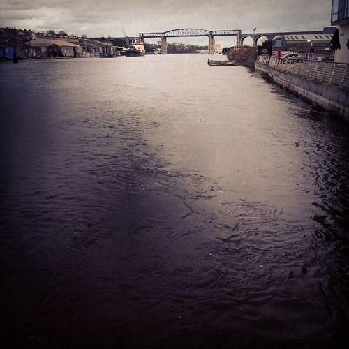 Drogheda Instatag Insta_walk Ireland high_tide storm beautiful cold winter2014 river_boyne rough