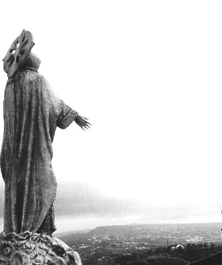 reminds me of Christ the Redeemer in Saó PaóLo. Tagaytay Philippines Filipinosbelike Uniqueness EyeEmNewHere EyeEm Best Shots Travel No People Outdoors Traveling Day Statue Black & White Uniqueness