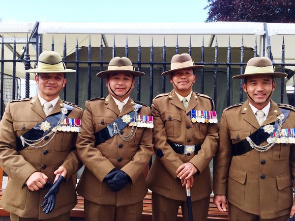 Gurka Officers celebrating 200 years of the Gurkas in the British Army Army Gurkha