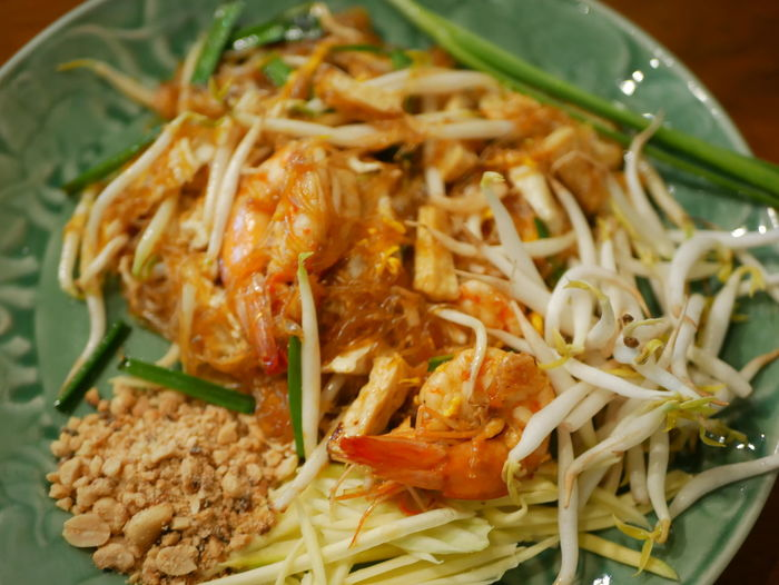 Thai noodle shrimp Food Ready-to-eat Food And Drink Healthy Eating Freshness Wellbeing Indoors  Close-up Italian Food Serving Size Vegetable Pasta Still Life Asian Food Thai Food Meal No People Plate Indulgence High Angle View Dinner Garnish Temptation Chinese Food Spaghetti
