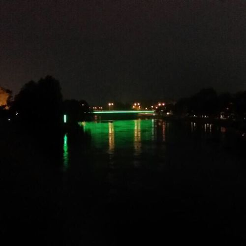 Ingolstadt Night Water Illuminated Neonlight First Eyeem Photo