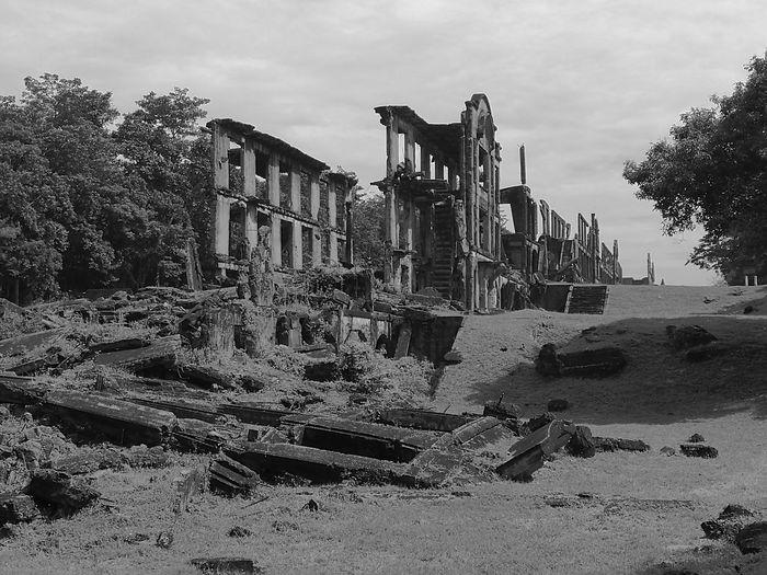 Ruins against sky