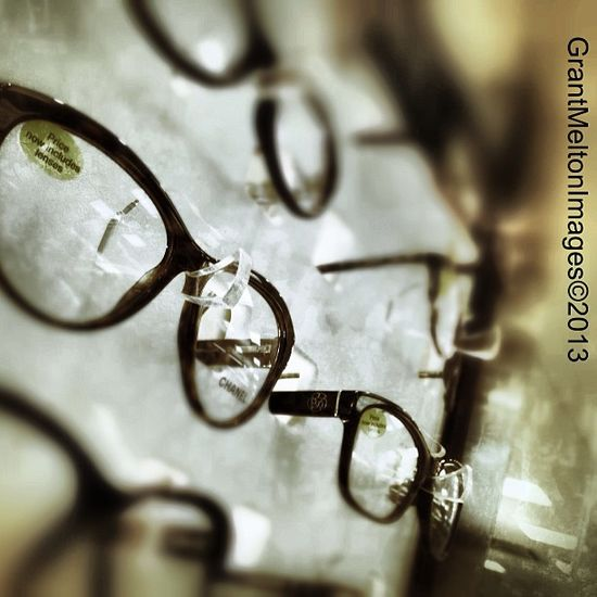 Close up Glasses Frames Opticians