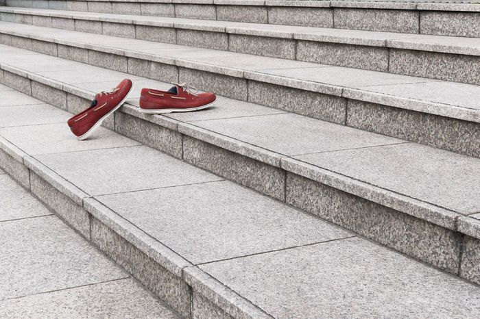 The Invisible Man Isolation Minimalism City Life Lost In City Insignificance Lonely Invisible Red No People Shoe Architecture Transportation Staircase City Pair Steps And Staircases