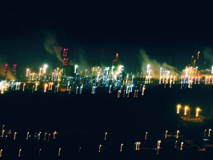 EyeEm Selects Glitch Celebration Large Group Of People Crowd Outdoors Night Sky People The Week On EyeEm Illuminated No People Building Exterior Built Structure Architecture Defocused Defocused Background Glitch Experiment