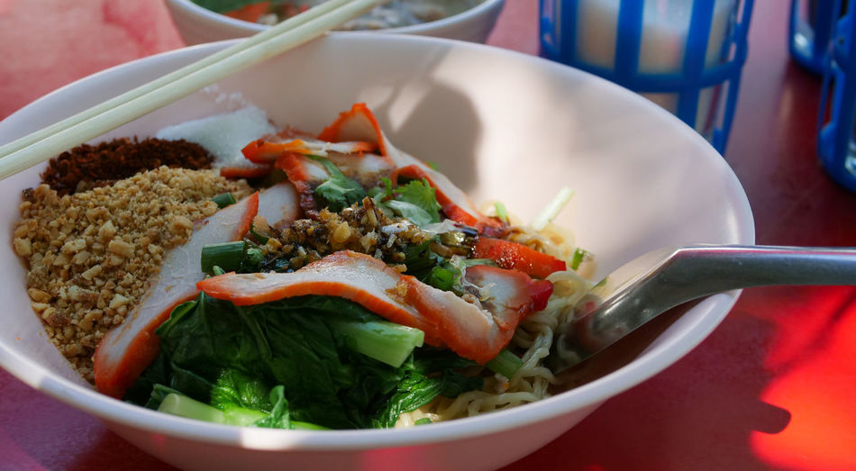 Close-up of meal served in bowl