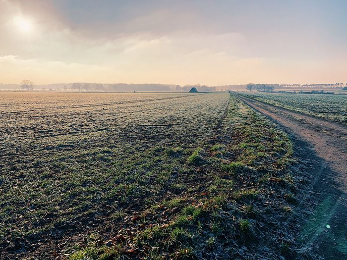 Landscape_photography Winter Wedemark Brelingen Sky Land Scenics - Nature Cloud - Sky Nature Landscape Tranquility No People Horizon Agriculture Outdoors