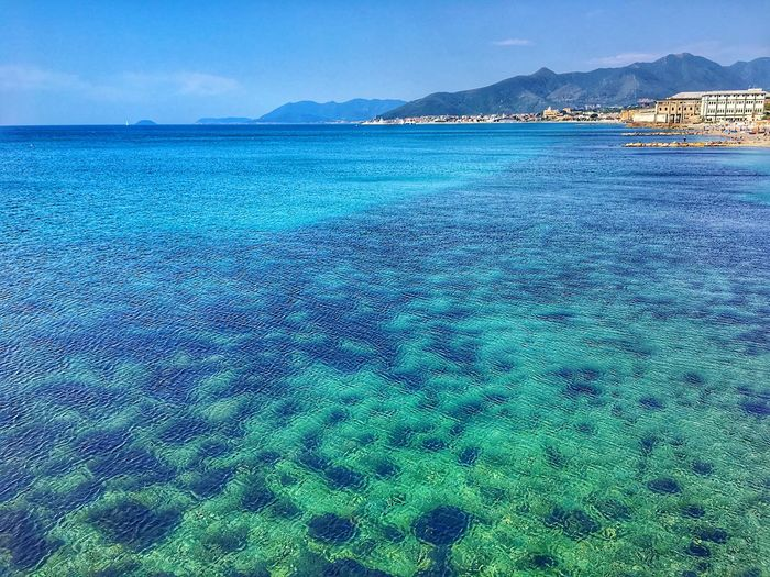 Water Sea Scenics - Nature Beauty In Nature Sky Tranquil Scene Tranquility Beach Blue Waterfront Idyllic Outdoors Non-urban Scene Green Color Turquoise Colored