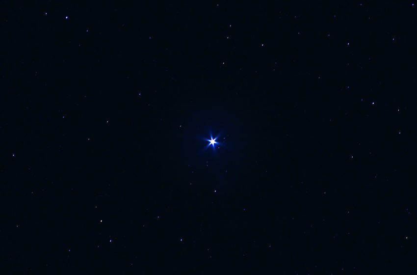 Astronomy Astrophotography Beauty In Nature Constellation Galaxy Low Angle View Nature Night No People Outdoors Scenics Sky Space Star - Space Stars At Night The Star Sirius In The Canis Major Constellation Now Sirius The Brightest Star Of The Nigth