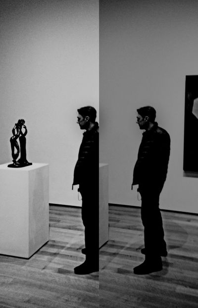 MoMA ~ Moma N.Y. Moma Gallery Gallery Of Art ArtWork Art Human Representation Men Real People Lifestyles Sculpture Statue One Person People Indoors  Blackandwhite Black And White Blackandwhite Photography NYC NYC Photography New York City Manhattan