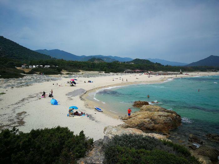 cala sinzias beach Sardinia Sardegna Italy  Sardinia Sardegna Sky Clouds And Sky Beach Sea Seascape Sea And Sky
