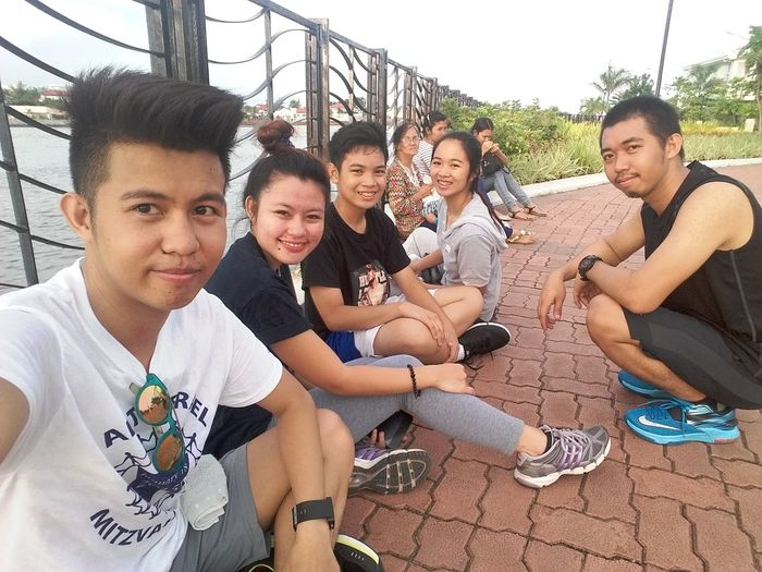 Mobilephoto Travelling Relaxing Cheese! we used to jog here in Esplanade Iloilo City Philippines.