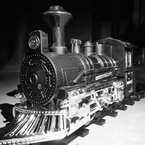 Toy Train Mobile Photography Blackandwhite Photography
