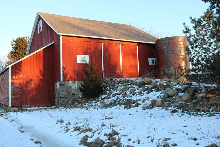 On My Drive Home … Happy Friday Everyone. Building Exterior Built Structure Architecture Snow Winter House Cold Temperature No People Outdoors Plant Nature Tree Day Agriculture Barn Pure Michigan