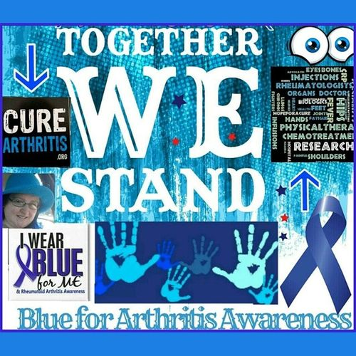 Awareness WearBlue BlueribbonProject Curearthritisorg Arthritis RA Followme UnitedAdvocacy