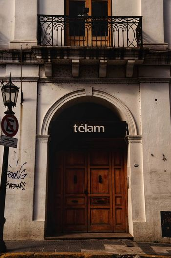 Télam Telam Notices PERIODISMO Note City Doorway Entry Arch Door History Gate Entrance Architecture Building Exterior Entryway Door Handle Palace Arched Wall