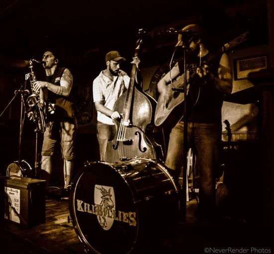 A band called Killbillies at a local pub. Sepia_collection Pub Band