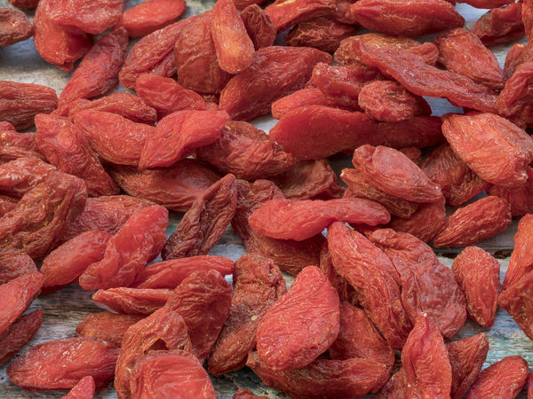 Goji fruits for health .Goji berries on a wooden background. (Lycium barbarum) Goji Berries Abundance Backgrounds Close-up Day Food Food And Drink Freshness Full Frame Goji Large Group Of Objects Meat No People Outdoors Red