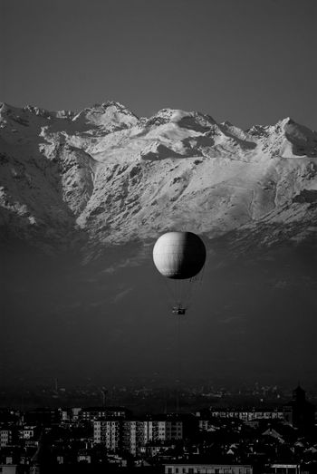 Mountains Hot-air Balloon Black & White Turin Donnieart Nikon D200 Lens